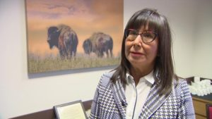 Rebecca Many Grey Horses is a health analyst with the Blood Tribe department of health. She was hired to develop an action plan after two local states of emergency were declared in 2015 and 2018 due to the opioid crisis. (Rebecca Kelly/CBC)